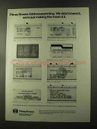 1973 Pitney-Bowes Addresser-Printer Ad - Didn't Invent