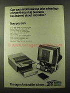 1973 3M System 4000 Microfilm Ad - Take Advantage