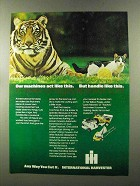 1973 International Harvester Lawn Mowers Ad - Act Like