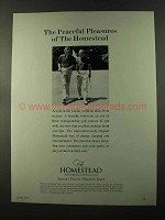 1973 The Homestead Resort Ad - Peaceful Pleasures