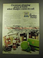 1973 Shaklee Fragrances Ad - Christmas Shopping
