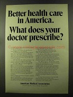 1973 American Medical Association Ad - Health Care