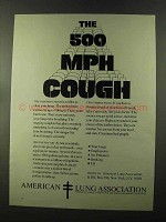 1973 American Lung Association Ad - The 500 MPH Cough
