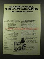 1973 McNeil Tylenol Ad - Millions of People Should Not