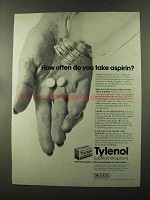 1973 McNeil Tylenol Ad - How Often Do You Take Aspirin?