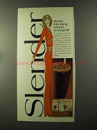 1973 Carnation Slender Ad - Taking it Off