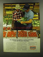 1973 Texaco Oil Ad - The Price of Produce
