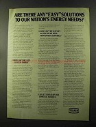 1973 Texaco Oil Ad - Any Easy Solutions to Energy