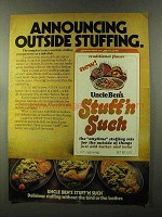 1973 Uncle Ben's Stuff'n Such Ad - Outside Stuffing