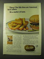 1973 Ore-Ida Golden Crinkles French Fries Ad
