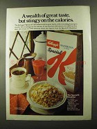 1973 Kellogg's Special K Cereal Ad - Stingy Calories