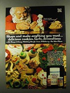 1973 Pillsbury's Best Flour Ad - Santa, Dough Boy