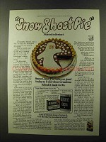 1973 Hershey's Cocoa Ad - Snow Ghost Pie