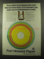 1973 Fort Howard Paper Ad - Put a Roll of Tissue Here