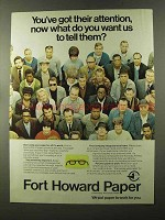 1973 Fort Howard Paper Ad - Got Their Attention