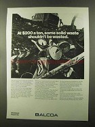 1973 Alcoa Aluminum Ad - Some Waste Shouldn't Be Wasted