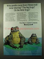 1973 Honeywell Computers Ad - Big Frogs or Little Frogs
