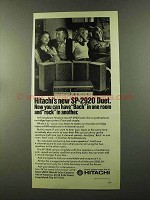 1973 Hitachi SP-2920 Duet Stereo Ad - Bach in One Room