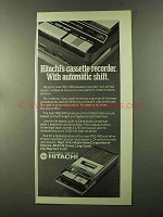 1973 Hitachi TRQ-340 Cassette Recorder Ad - Shift