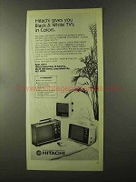 1973 Hitachi Televisions Ad - Black & White in Colors