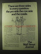 1973 The Wall Street Journal Ad - Three Sides