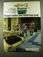 1973 Newport Cigarettes Ad - Makes World Taste Good