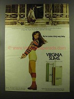 1973 Virginia Slims Cigarettes Ad - You've Come Long Way