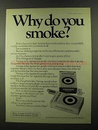 1973 Vantage Cigarettes Ad - Why Do You Smoke?