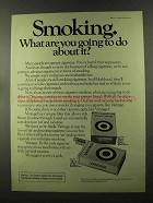 1973 Vantage Cigarettes Ad - Smoking What Are You