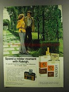 1973 Raleigh Cigarettes Ad - Milder Moment With Raleigh