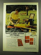 1973 Raleigh Cigarettes Ad - A Milder Moment
