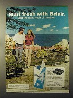 1973 Belair Cigarettes Ad - Start Fresh With