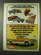 1973 Dodge Club Cab Track Ad - Around the Farm