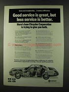 1973 Chrysler Ad - Good Service is Great