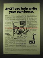 1973 CIT Leasing Ad - Help Write Your Own Lease