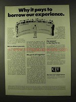 1973 CIT Corporation Ad - Borrow Our Experience