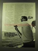 1973 Pilot Life Insurance Ad - Leslie Moore