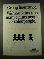 1973 Connecticut General Life Insurance Ad - Claims