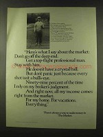 1973 Securities Industry Association Ad - About Market