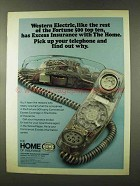1973 The Home Insurance Company Ad - Western Electric
