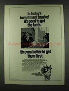 1973 Dow Jones Ad - It's Good to Get the Facts