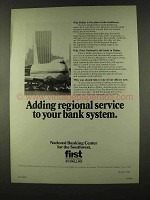 1973 First National Bank in Dallas Ad, Regional Service