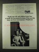 1973 F&M First & Merchants National Bank Ad - Your Wife