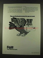 1973 F&M First & Merchants National Bank Ad, Uncle Puts