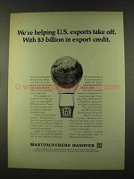 1973 Manufacturers Hanover Ad - Exports Take Off
