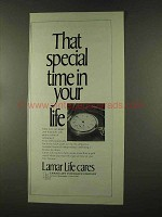 1973 Lamar Life Insurance Ad - Special Time in Life