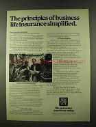 1973 New York Life Insurance Ad - Principles Simplified