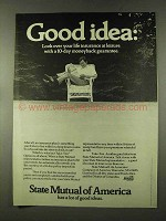 1973 State Mutual of America Ad - Look Over at Leisure