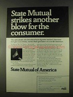 1973 State Mutual of America Ad - Blow for Consumer