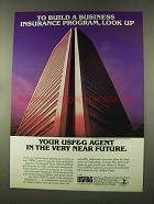 1973 USF&G Insurance Ad - To Build a Business Look Up